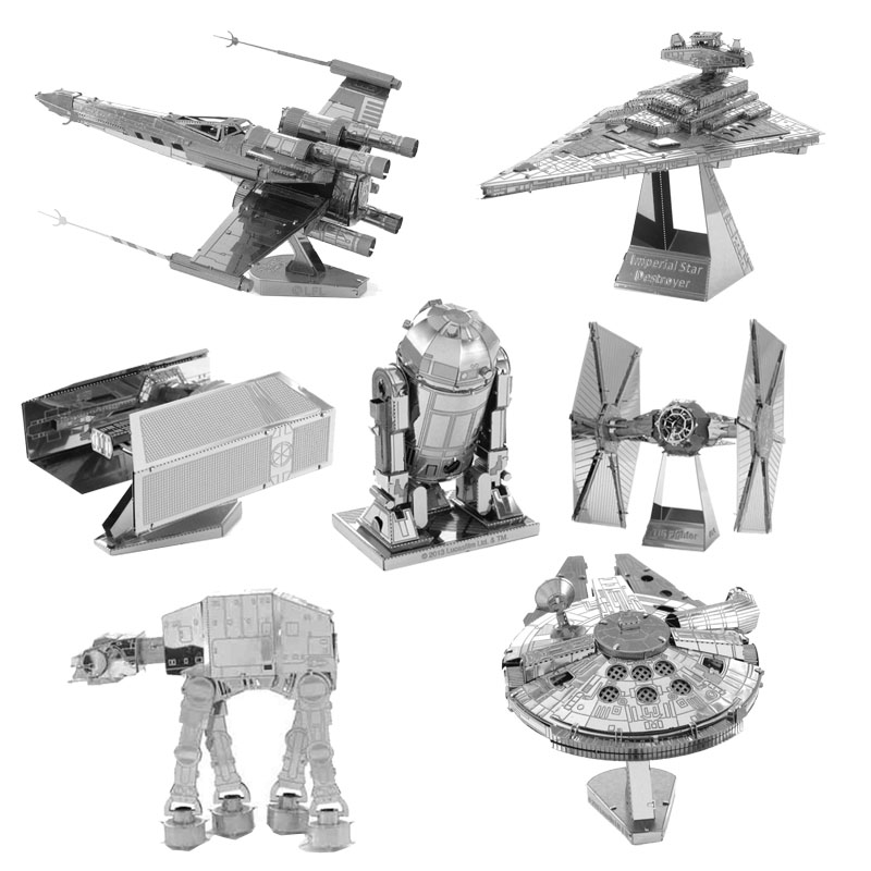 Star War Spacecraft BB8 Puzzle Toys 3D Scale Models jigsaw DIY Metallic Nano Puzzle Assembly Toys Birthday Gifts(China (Mainland))
