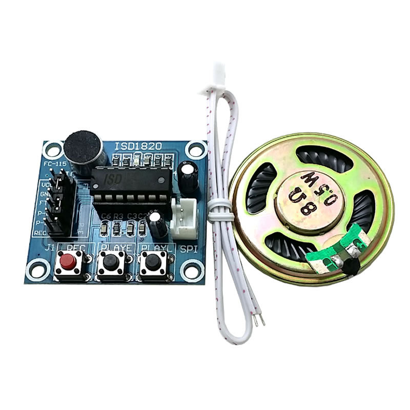 80061 ISD1820 recording module voice module the voice board telediphone module board with Microphones + Loudspeaker for arduino(China (Mainland))