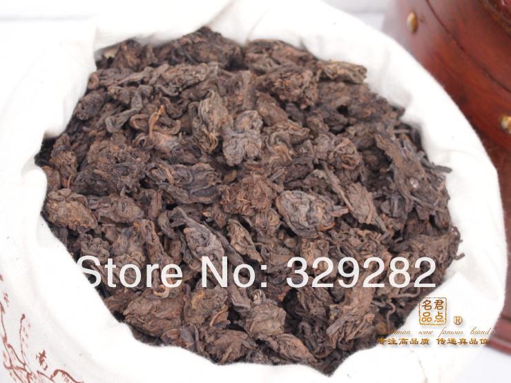 500G Ripe Puerh Tea, Mellow Taste old year MengHai LaoCha Tou,loose shu puer tea, Free Shipping(China (Mainland))
