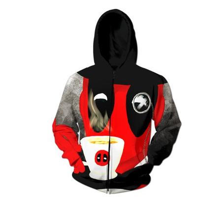 DeadPool Morning Joe Zip-Up Hoodie trippy 3d Sweats Fashion Clothing Women Men Sport Tops Sweatshirts Jumper Outfits - 3D Clothes store
