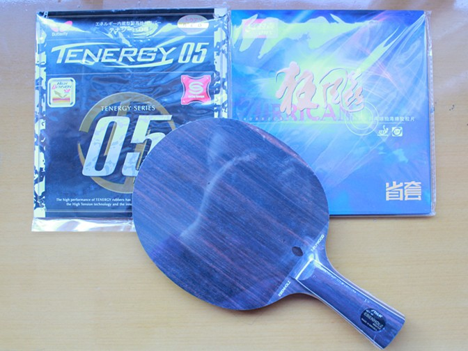 Stiga EBENHOLZ 7 table tennis blade+DHS hurricane 3 rubber(blue sponge)+butterfly rubber table tennis racket ping pong(China (Mainland))