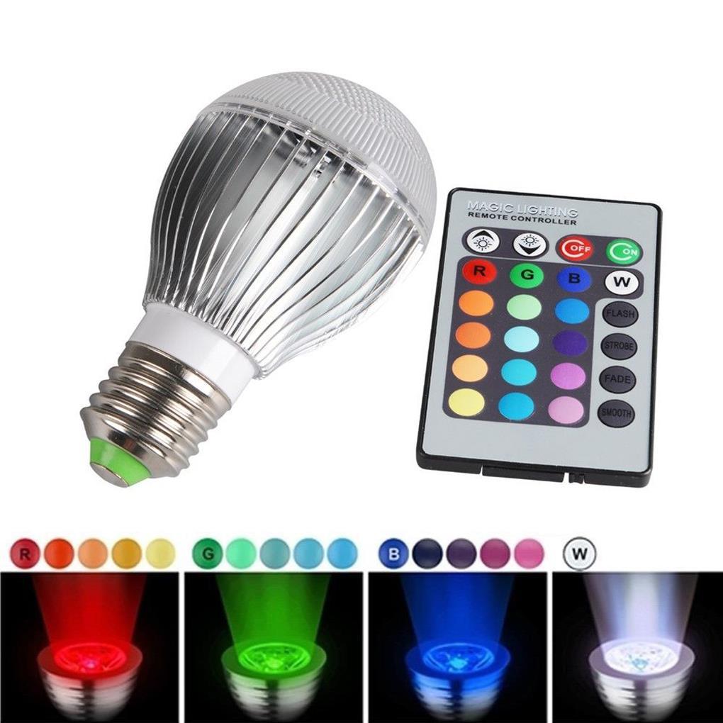 New Arrival Hot Sale 30W E27 RGB LED Bulb Light Lamp+ 24 key IR Remote Control(China (Mainland))
