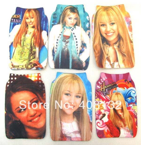 lot 10 Pcs Hannah Montana MP3/MP4/ mobile case Protection cell phone bag/case soft Socks(China (Mainland))
