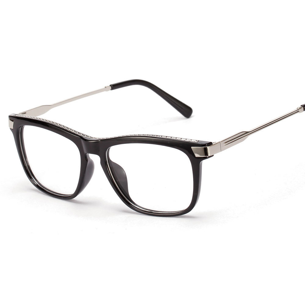 Wire Frame Glasses Vs Plastic : 2016 New Plastic Metal Temple Women Men Glasses Eyeglasses ...