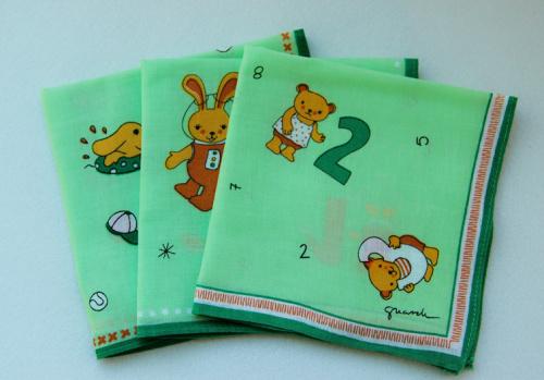 Lovely Handkerchiefs 30cm / 100% cotton 42's wholesale / South Korea cartoon animals Rabbit puppy