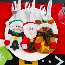 12pcs/lot Christmas Decoration for Home New Year Tableware Holder Pocket Cutlery Party Christmas Gift Table Decoration Supply(China (Mainland))