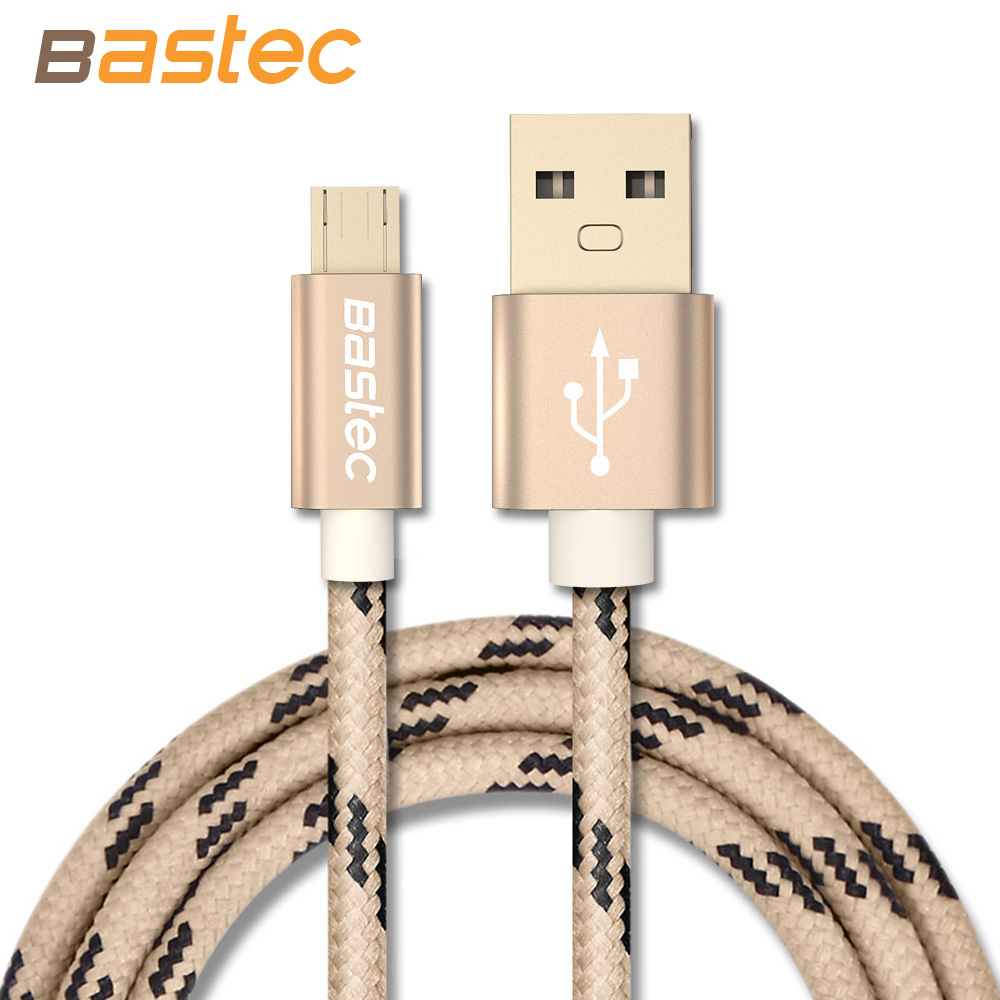 Bastec Original Micro USB Cable with Metal Shell Gold-plated Connector Braided Wire for Samsung / Sony / Xiaomi / Android Phone(China (Mainland))