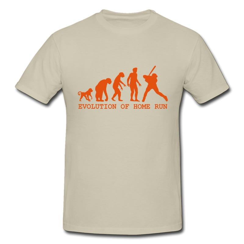 Slim Fit T Shirt Man Evolution T Shirts home run Funny Photo Menu0026#39;s Tee ...