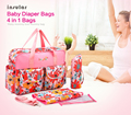 New Arrival Large compacity Antimicrobial Waterproof Baby Diaper Bags Fashion Baby Bags Nappy Bags Mommy Messenger