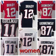 2016 elite Donne signore Migliore Womens 100% Stitiched,New England Patriots,12 Tom Brady, 87 Rob Gronkowski #11 Julian_Edelman(China (Mainland))