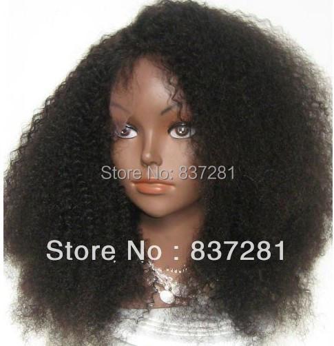afro curl brazilian virgin human hair lace front wigs black women - Flower factory store