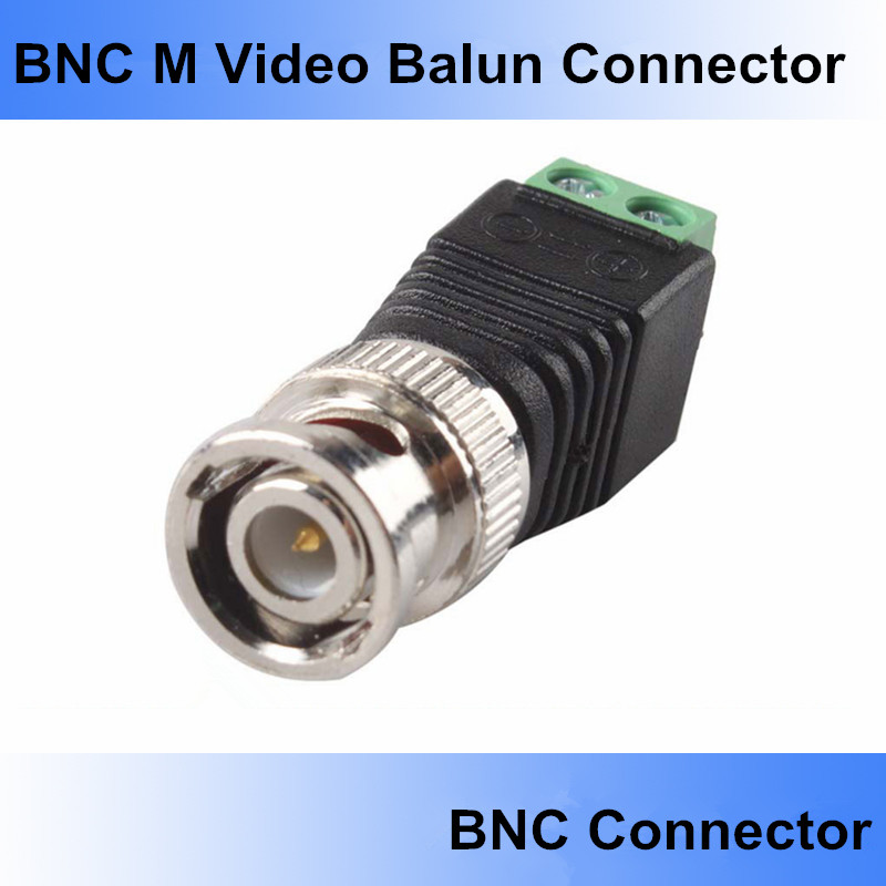 20Pcs lot Mini Coax CAT5 To Camera CCTV BNC UTP Video Balun Connector BNC Plug For CCTV System IP Camera. Free Shipping !!(China (Mainland))