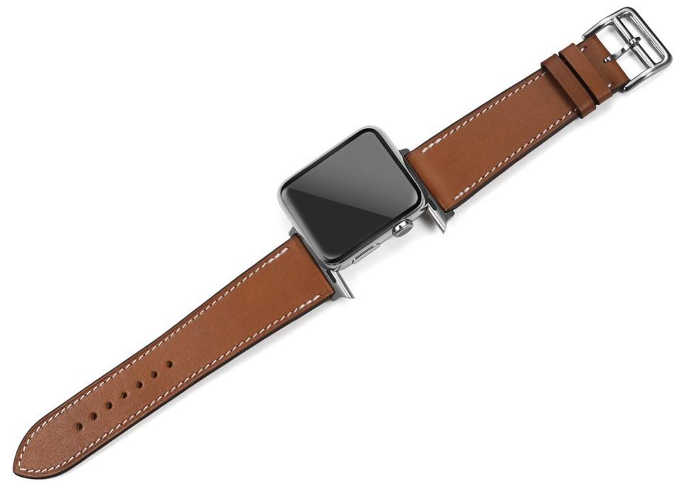 IStrap Черный Коричневый Франция Натуральной Телячьей Кожи Один Тур Браслет Ремешок Для Iwatch Apple Watch Band 38 мм 42 мм