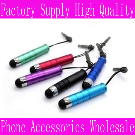 Free Shipping Wholesale Prices Mini multicolor Mobile Phone Stylus Capacitive Stylus Touch Pen For Apple iPhone 5 5G 4 4G 4S