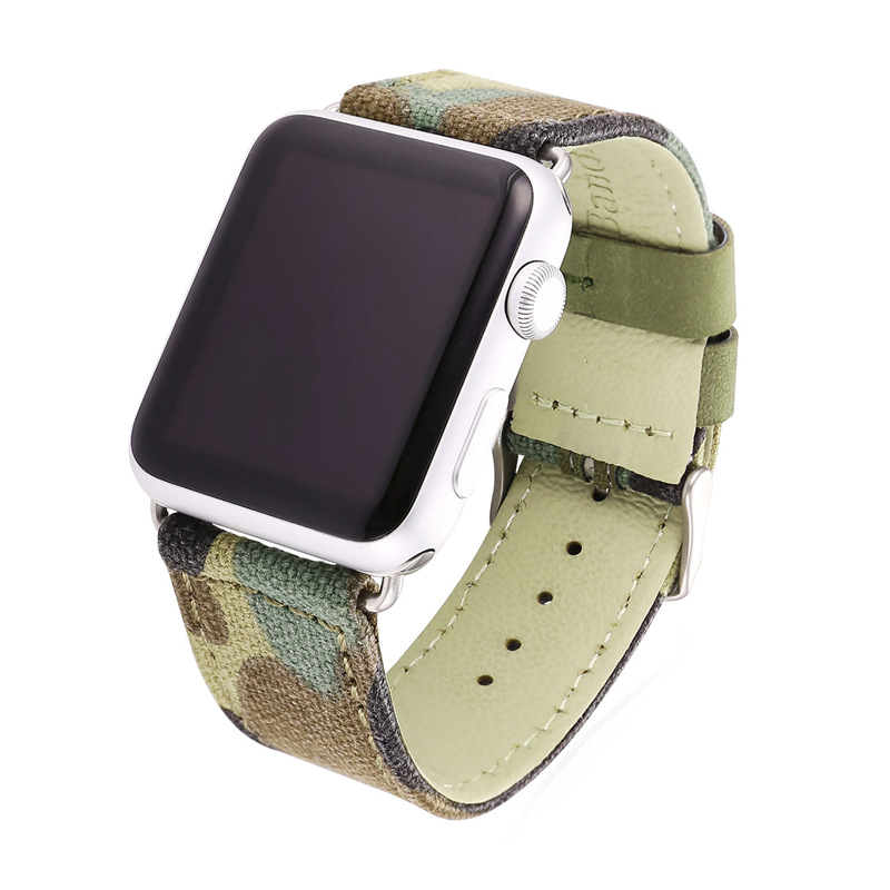 High Quality Denim Fabric Watch Strap Watchband For Applewatch 38MM/42MM Military Green Watch Band Men/Women 2016 New APB2225(China (Mainland))