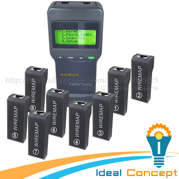 Фотография Digital Network LAN Cable Coaxial Wire Length Tester 5E 6E 8 Remote Identifier Networking Tools