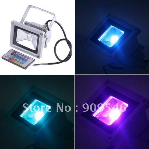 shipping free DHL16 colour change RGB led floodlight 10W / 20w / 30w / 50w rgb led flood light Waterproof IP 65 led streep lamp<br><br>Aliexpress