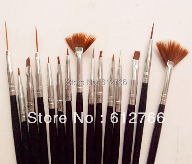 nail brush set 15pcs brush set