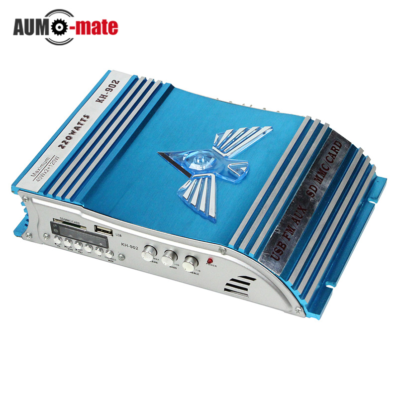 Auto Sound Enlarger Car Power Amplifier with card reading(blue) - 902 usb Car Auto Stereo Audio Amplifiers(China (Mainland))