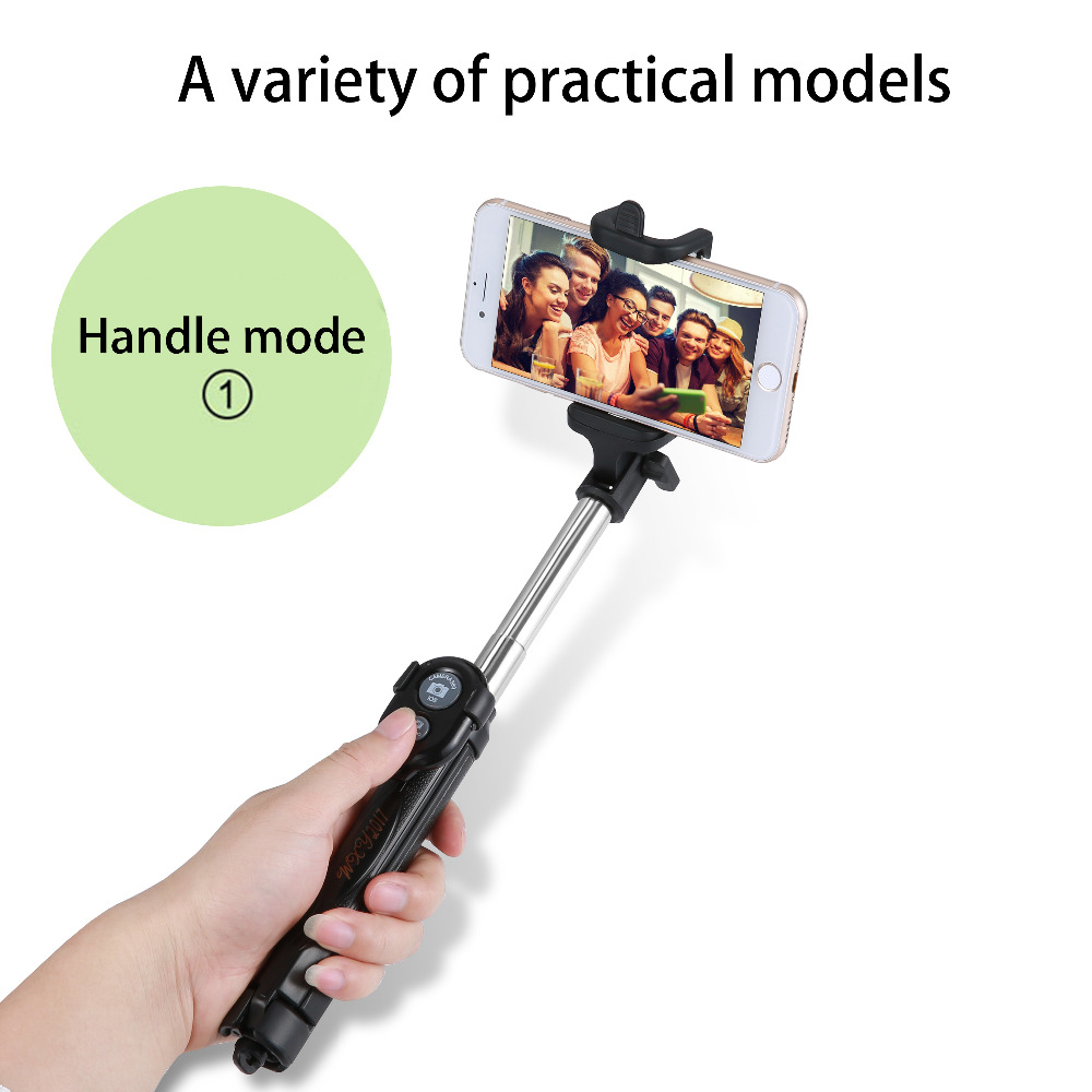 image for Extendable Self Selfie Stick Handheld Monopod+Bluetooth Shutter Remote