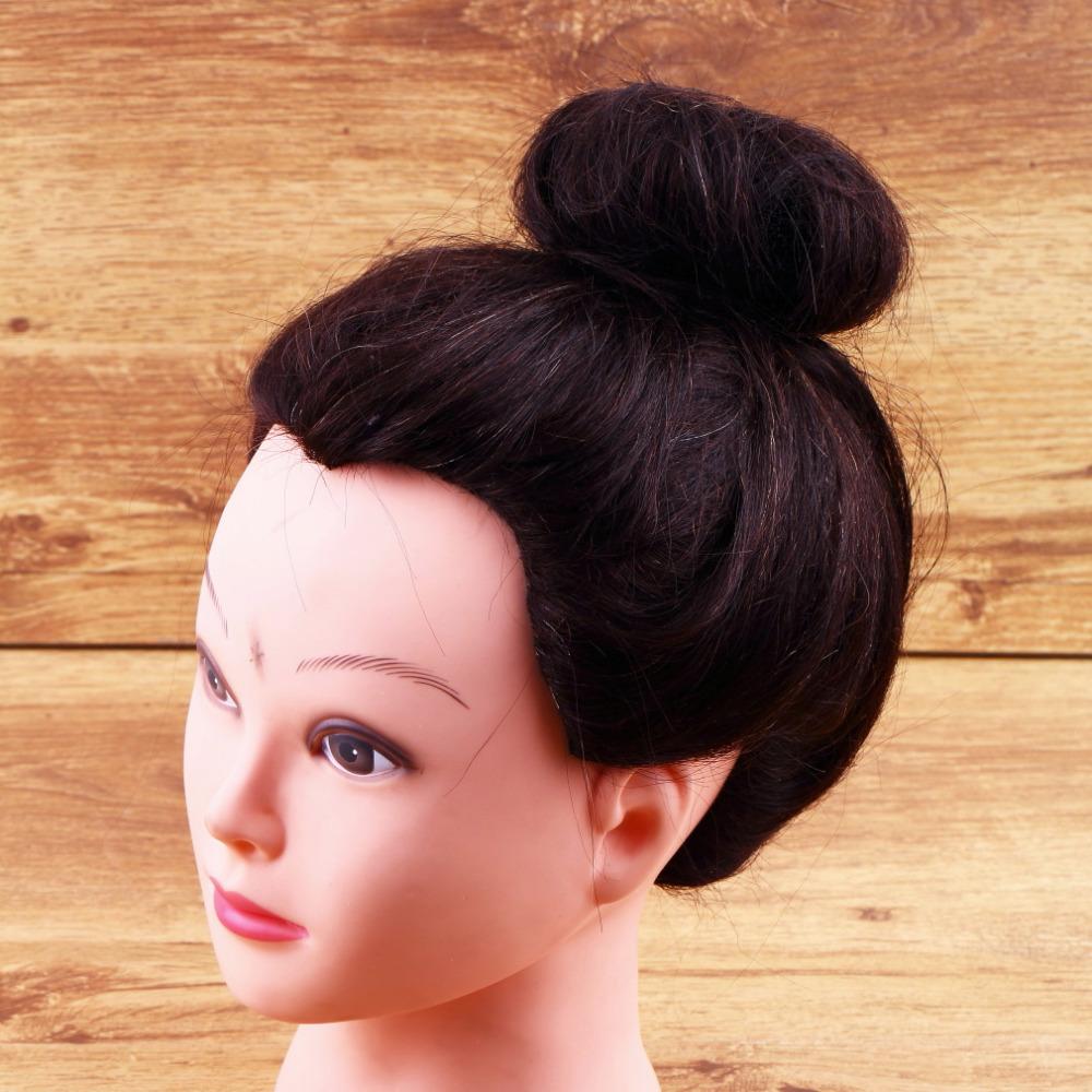2015 New Hair Donut Bun Ring Shaper Roller Styler Maker Brown Black Blonde Hairdressing Elastic Round Nylon Wire(China (Mainland))