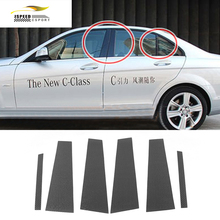 Buy W204 Car Styling Carbon Fiber Car Window B Pillar trim sticker Benz W204 C-class 2008-2015 for $114.45 in AliExpress store