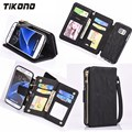 Multifunction Zipper Classic Leisure Business Style Wallet Flip Leather Card Slot Mobile Phone Case For Samsung
