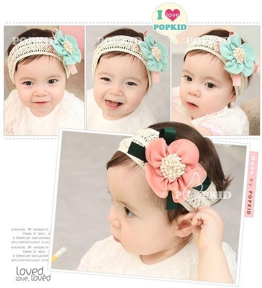 3 Colors Fashion Design Baby Girls Kids Infants Children Newborn Big Flower Headband Headwear Hair Accessories A012(China (Mainland))