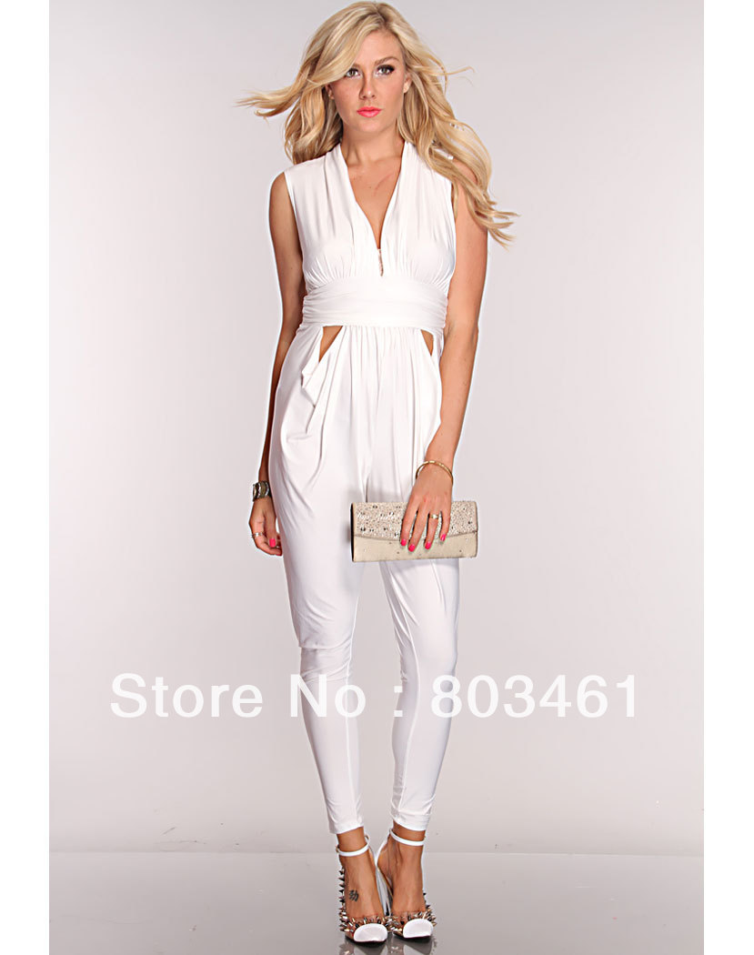 Images of White Women S Jumpsuit - Reikian