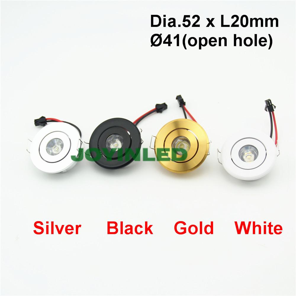 Pack of 10 Mini 3W Led Mini Downlight Round Adjustable Ceiling Spot 220V Led Cabinet Lights JOYINLED YDG-20001027