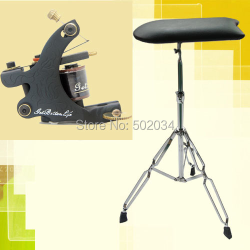USA Dispatch Pro TATTOO Arm Leg Rest Fully Adjustable Tattoo Chair with Tattoo Machine Gun Liner 8 Wraps Coil Supplies