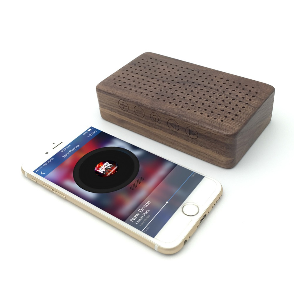 2015 Natural Bamboo Wood Speaker Portable Wooden Mini Unique Sound Box Smart Phone Tablet Laptop PC