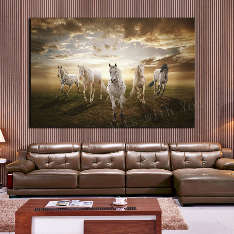 Art painting equipment picture more detailed picture for Horse decorations for home