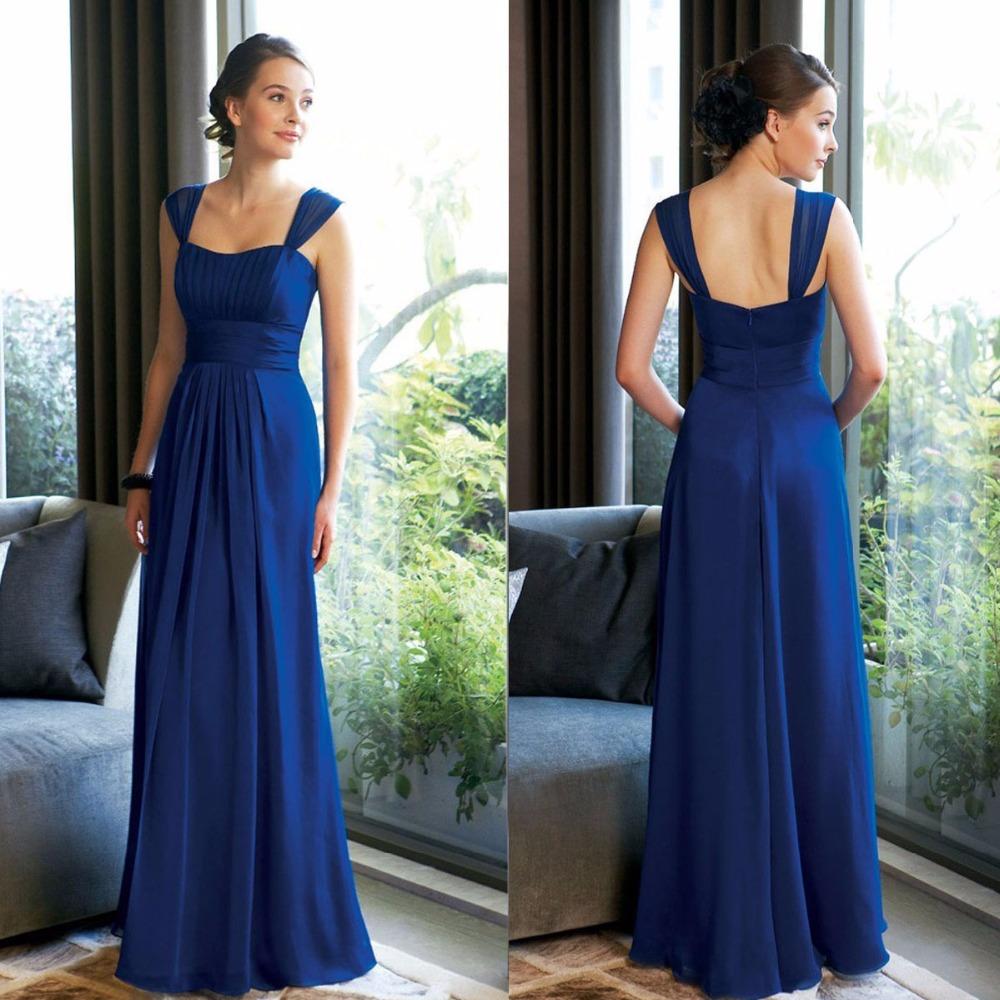 Vestido de festa de casamento cheap 2016 navy blue for Turquoise wedding dresses for bridesmaids