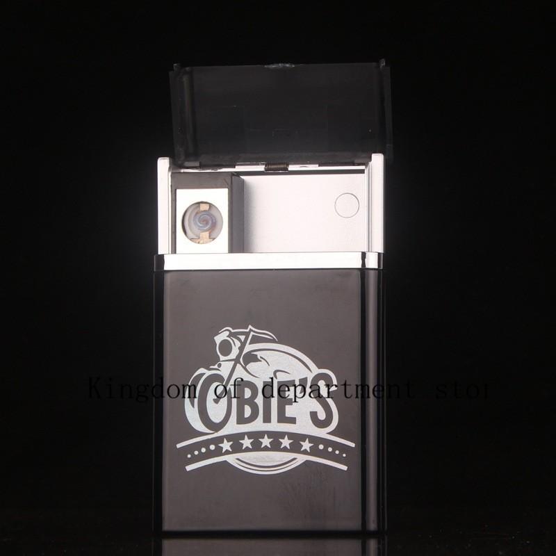 ถูก ที่สวยหรูบุหรี่USBชาร์จบุหรี่เบาบุหรี่กรณีแผ่นสายไฟฟ้า8แพ็คใหม่บุหรี่กรณี