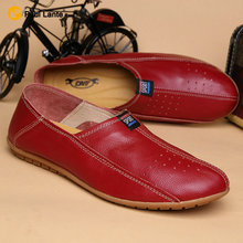 2017 Brand Genuine Leather Flats Men's Boat Shoes Slip Breathable Roll Penny Casual Driving Men Velvet Loafers - Paul Lante Moccasins store