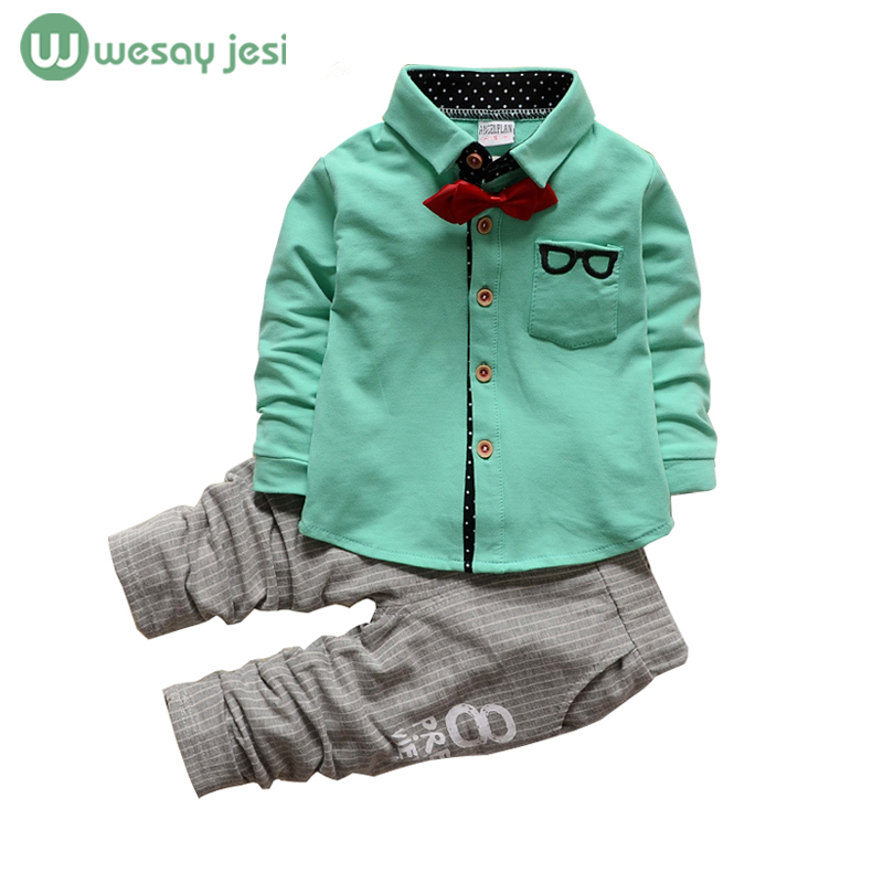 Kids clothes Winter long Sleeve t-shirt + pants suit set baby boys suits sets gentleman toddler boy birthday dress - WESAY JESI W Co. Ltd. Store store
