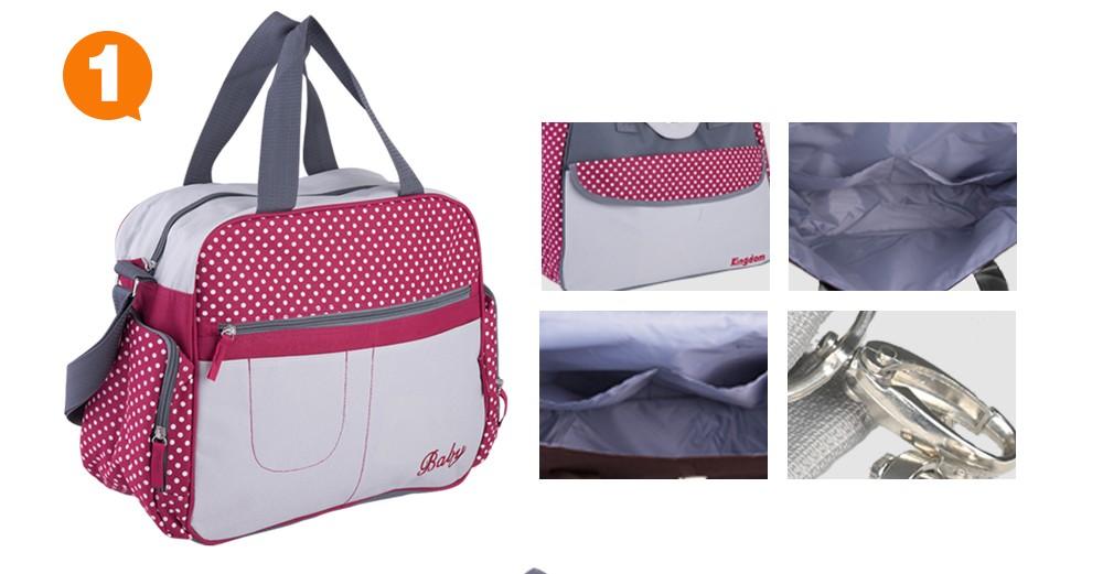 Стильный dot разноцветные беременным многофункциональный мать сумки новорожденных подгузник уход коляски сумки пеленки младенца сумки