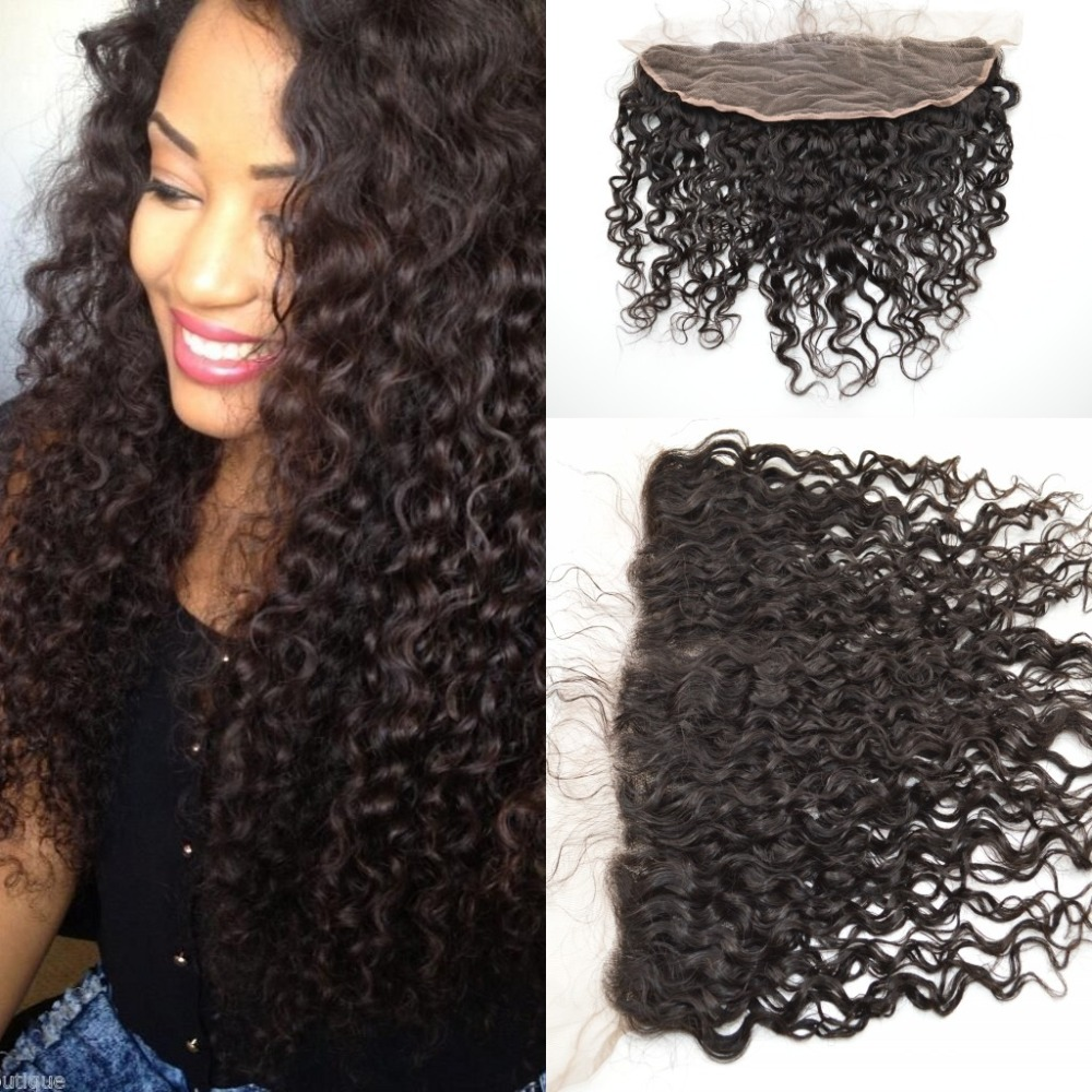 Curly beyonce curl deep wave virgin Malaysian hair lace frontal bleached knots free ship instock hair