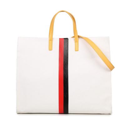 2016 New Fashion Shopping Bag Canvas Shoulder stripe handbag brand woman 6 color bag Large Capacity Tote(China (Mainland))