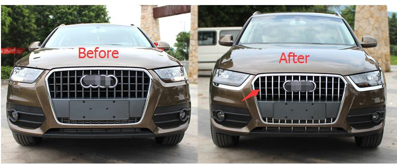 Фотография ABS! Chrome Front Grille Cover Trim For Audi Q3 2013 - 2015 / 2 model for Choice!