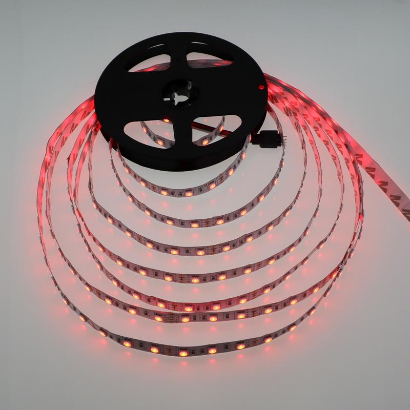 Hot sale 5m/lot LED strip 5050 12V flexible light White Warm white Cold white Blue Green Red Yellow RGB color LED ribbon 60led/m