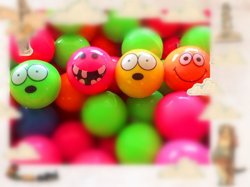 10pcs 3cm baby toy balls Smiley face rubber bouncing ball for kids/Children/Infant/boys/girl pop jumping ball 3 years sports(China (Mainland))