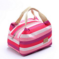 New Fashion Portable Insulated Canvas lunch Bag Thermal Food Picnic Lunch Bags for Women kids Men