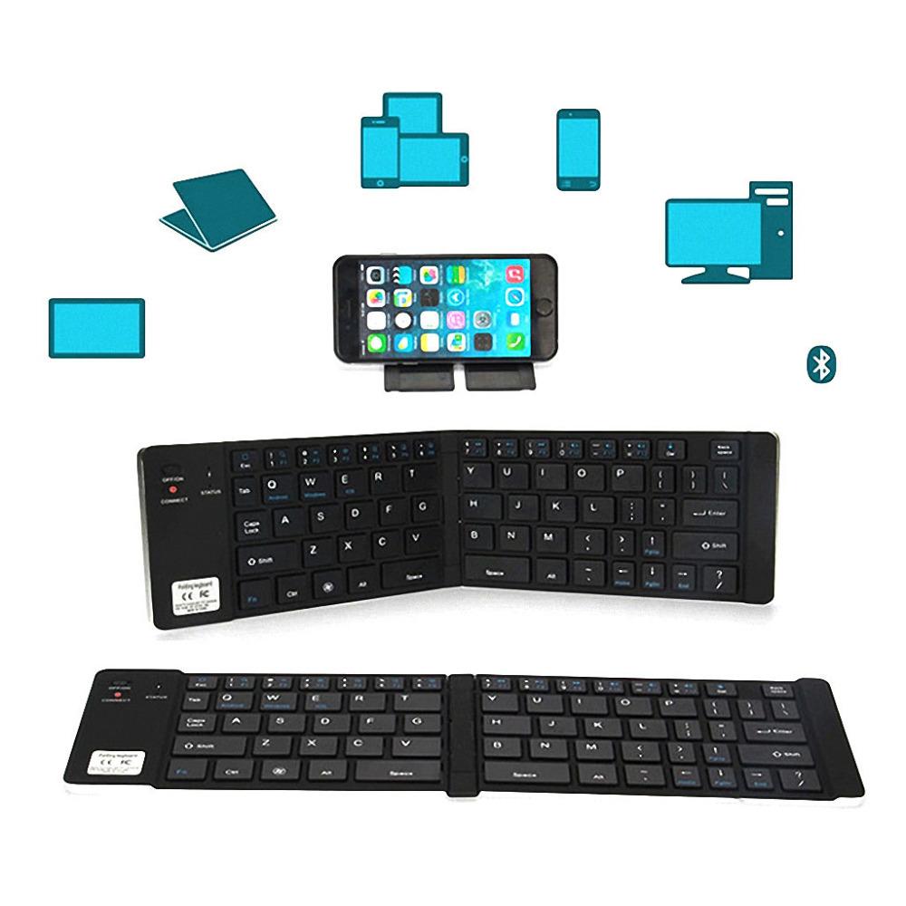 Portable Wireless Foldable Bluetooth Keyboard for IOS Android Windows Black Computer Keyboards Mac Mini keypad gamer New Brand(China (Mainland))