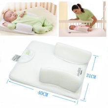 Baby Newborn Infant Protective Flat Head Shaped Anti Roll Sleep Positioner Sleeping Pad Cushion Shaping Pillow
