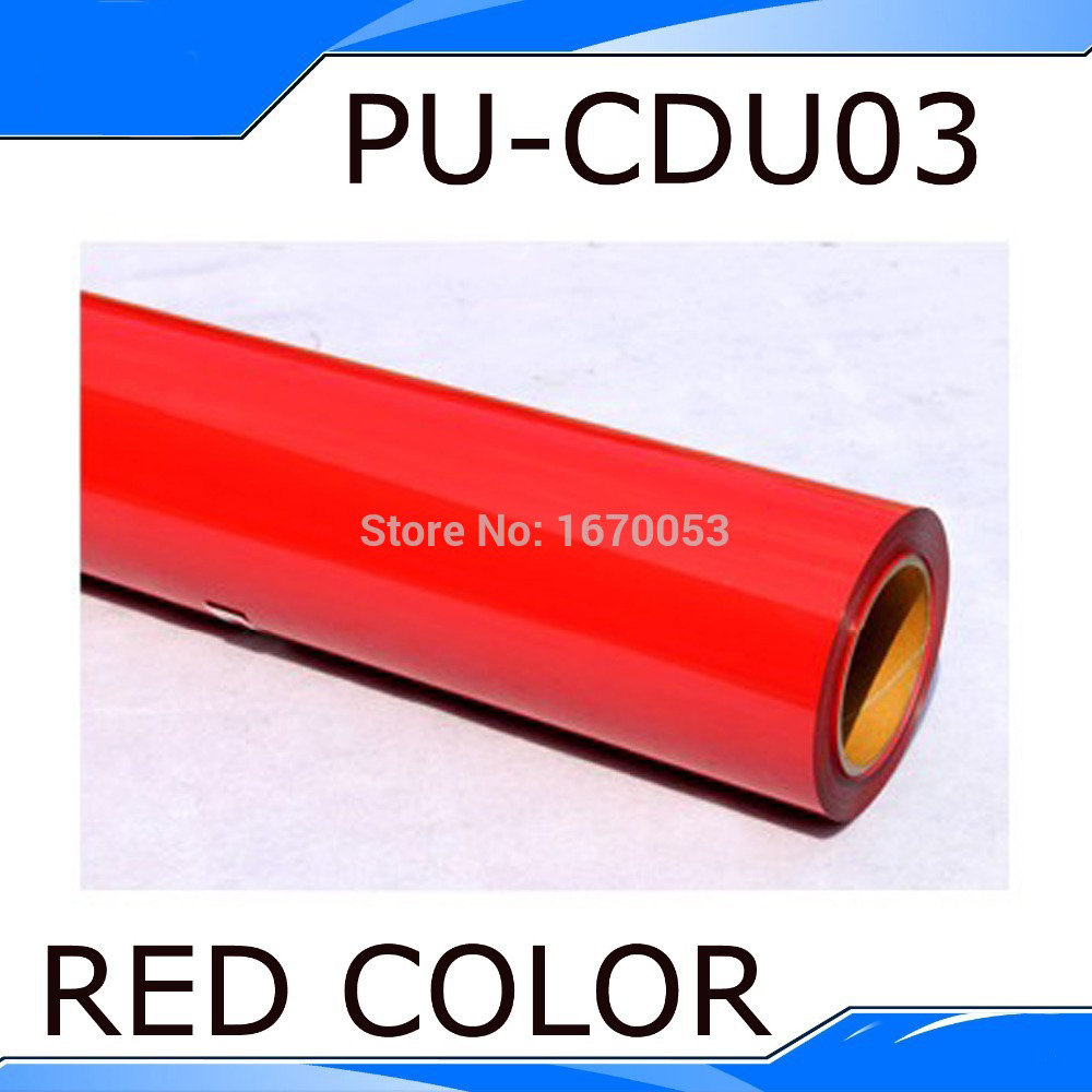 Shipping Cost One Roll(25 meters) Red Color Heat Transfer Vinyl Heat PU Vinyl Heat Transfer film T-shirt Transfer Vinyl(China (Mainland))
