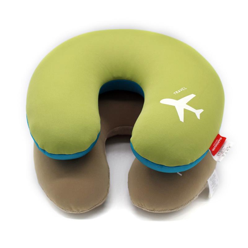 Microbeads U Shape neck Pillow car Airplane travel pillows messager kissen foam body pillow(China (Mainland))