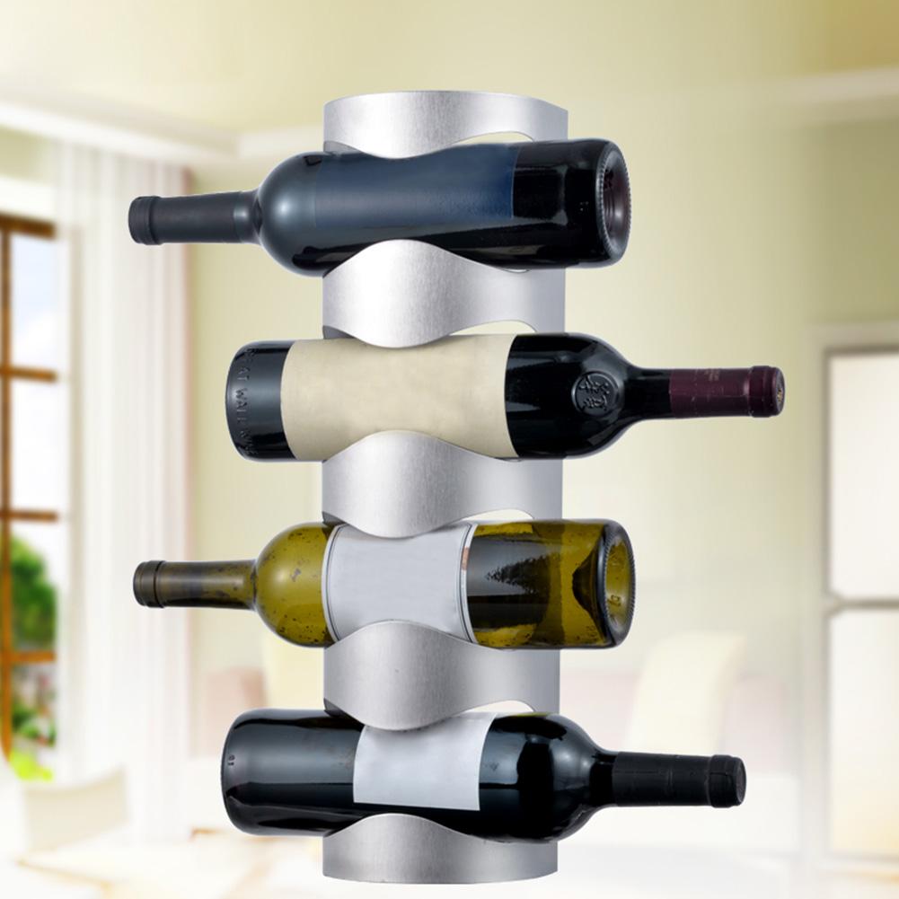 4 бутылки бар дисплей полка Стенд стойка для вина подвеска настенная бутылка aeProduct.getSubject()