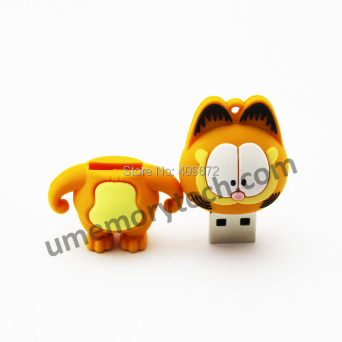 cartoon animal Garfield pen drive usb flash drive pendrive usb stick 2GB 4GB 8GB 16GB 32GB pen drive Free Drop shipping
